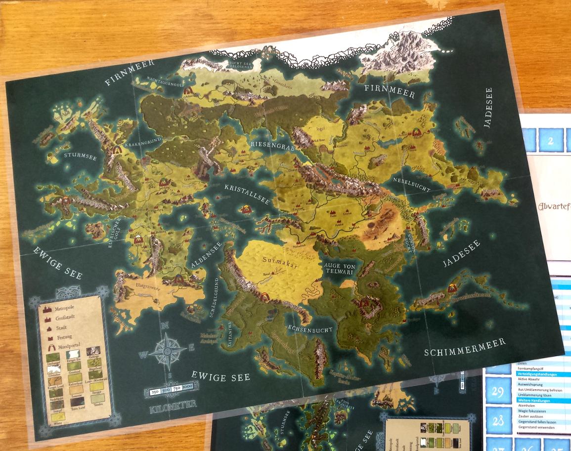 Laminierte Karte